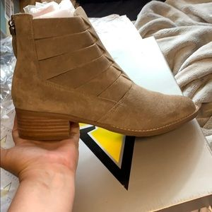 Volatile taupe suede booties 7